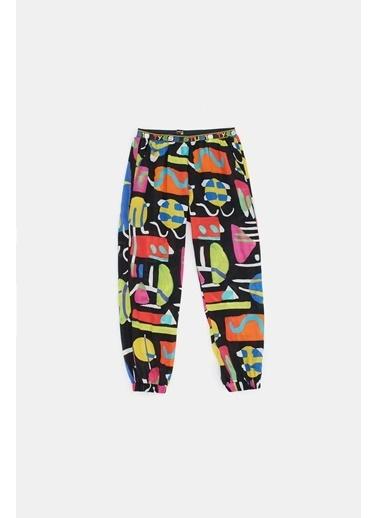 Tyess Kız Çocuk Desenli Pantolon  Renkli